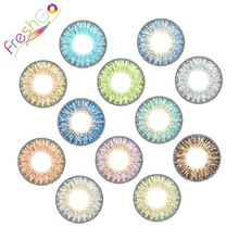 Fancy look high quality hollywood big eye tri cosmetic lenses freshgo 3 tone color contact lens wholesale