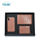 A set of Credit Card holder and Passport Crocodile grain visa plain genuine leather passport holder luxury phone case