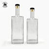 Simplistic styling 500ml and 750 ml whisky empty rum glass liquor bottle with cork