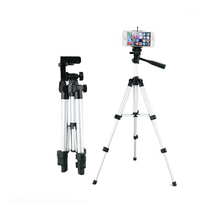 3110 <strong>Mobile</strong> Stand 4 Section lightweight aluminum Camera Tripod with black pouch bag and cardboard gift box