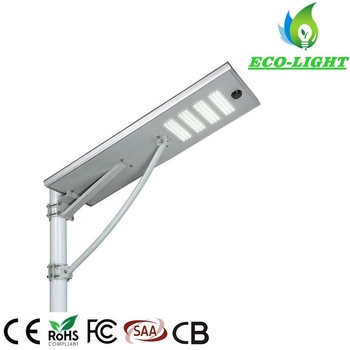 60w all in one integrated solar street light IP65 waterproof garden park road solar lighting