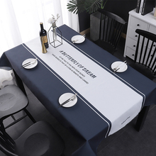 party champagne Cotton Linen waterproof High Quality tablecloth Wedding Event Party Hotel Decorative Home Decor clips