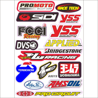Custom Sponsor Race MX Logo motocross quad bike stickers for helmets motorcycle