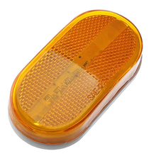 Amber LED 4 Inch Trailer Clearance Side Marker Light w/ Reflex Reflector