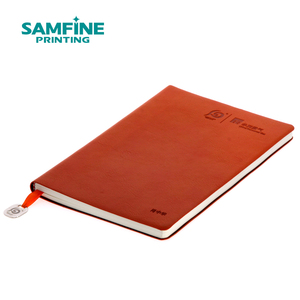 PU leather slipcase notebook planner offset CMYK printing