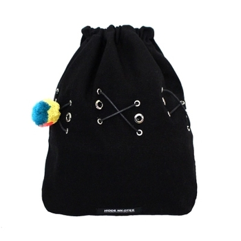 Wholesale Custom Reusable Drawstring Bag With Small Pompom
