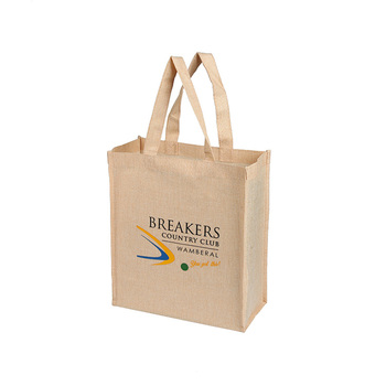 Multifunctional Custom Design Eco Cloth Carrying Grocery Jute Tote Bag