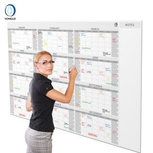 015-1A2 Premium dry erase wall planner calendar yearly wall calendar 2019