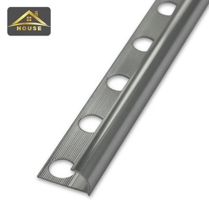 Aluminum tile trim outside corner bead metal strip with holes