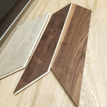 Free samples available engineered chevron parquet floor