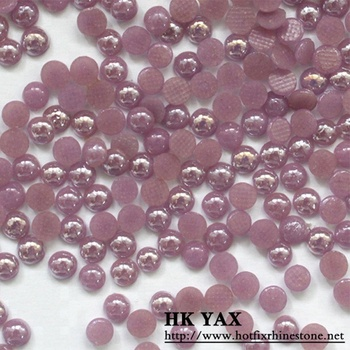 T0802 China supplier non-hotfix ceramic flat back pearls,flat back pearl,wholesale flat back pearls