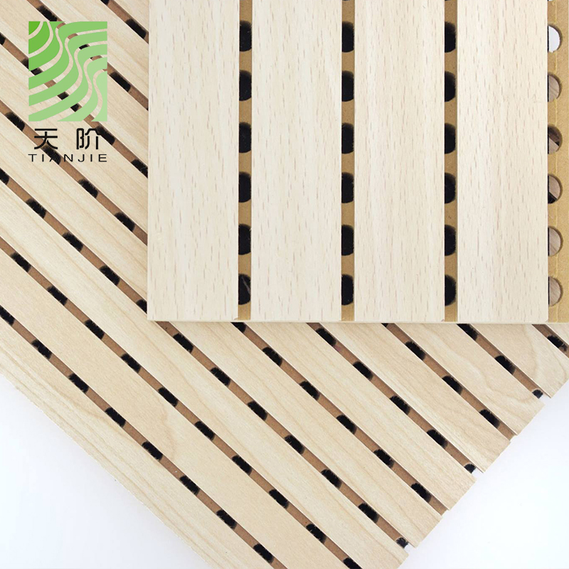 Tianjie Acoustic <strong>panels</strong> Factory Wooden grooved sound absorption acoustic <strong>panels</strong> used in auditorium
