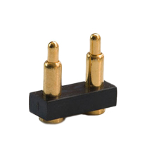 Customize Able Brass 2 Pin Spring Loaded Pogo Pins Socket Loaded 2 Pin Pogo Connector