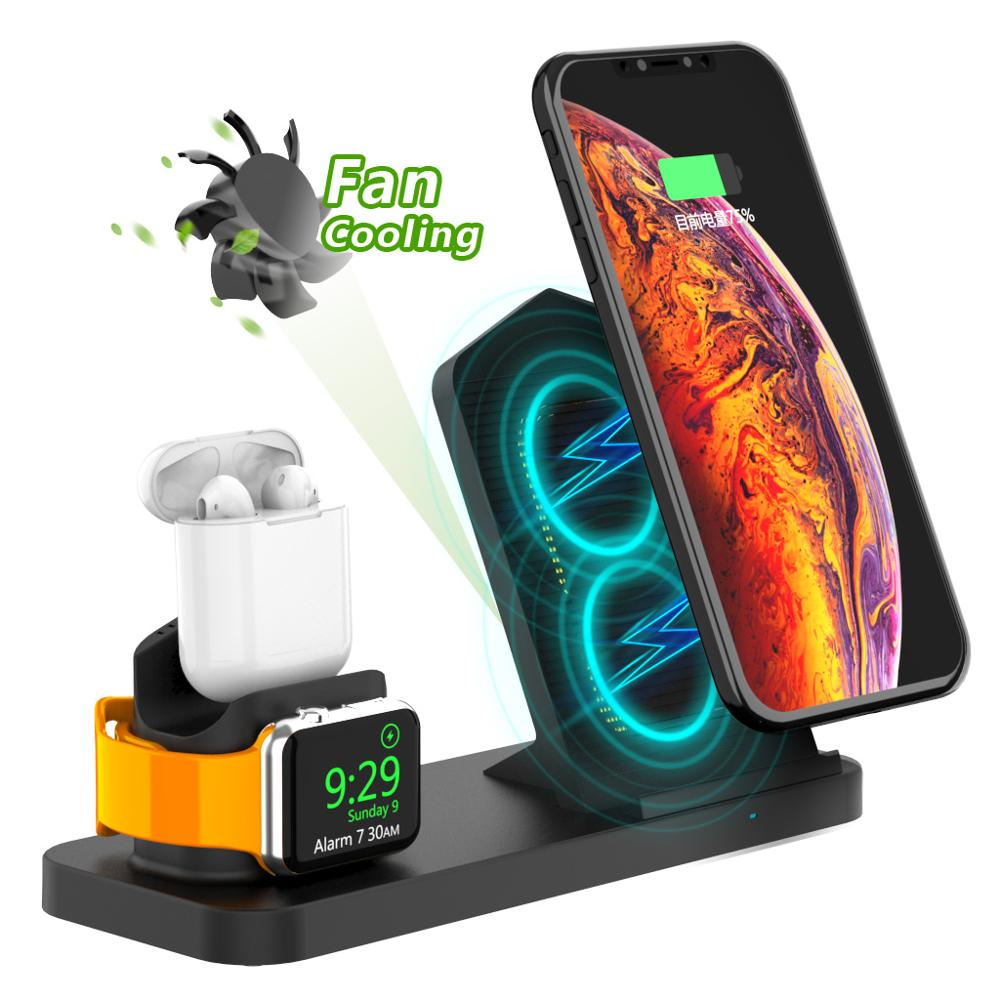 3in1wireless charger for phone and i watch charging dock for airpods