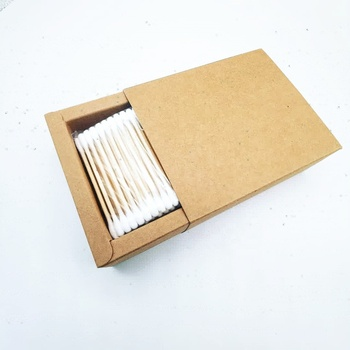 No Plastic Eco Friendly Cotton Buds Wooden Stick BPA Free Package Style