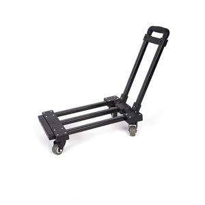 Foldable luggage cart 4 wheels shopping trolley platform hand truck