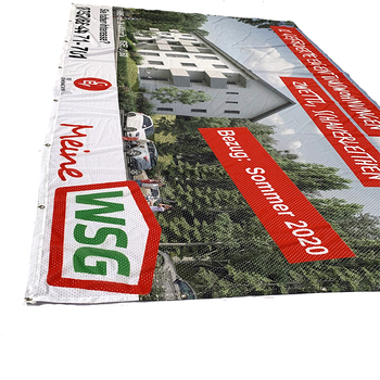Textile Digital Printing Wind Resistant Outside Thin Hole Mesh Fence Banner