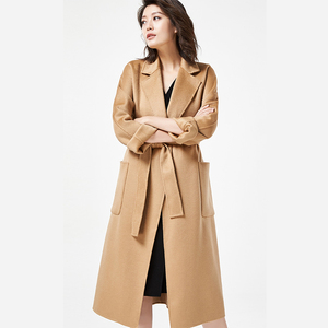 Fashion Ladies Winter long organic wool great coats