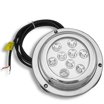 ZY  OEM IP 68   RGB  27W (9*3W)  Led under water fishing lights IP68 led underwater boat lighting RGB 27W