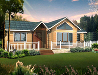 leisure hut, morden house design, single storey, terrace, log cabin, China prefabric homes