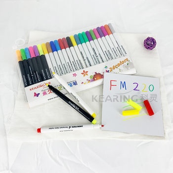 2018 New Kearing Permanent Textile Fabric Marker 24 colors set for Fabric/shoes DIY Drawing # FM224