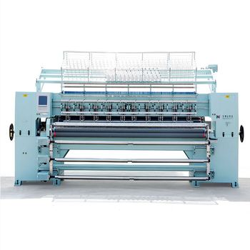 "YBD 128"" 3 Chinese machine quilting expert cheap quilting machine CNC automatic chain multi-needle quilting machine"