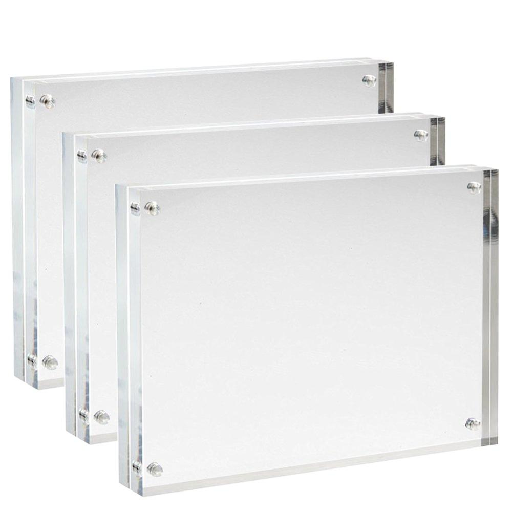 Custom <strong>size</strong> 11x14 8.5 x11 10 x8 6x8 4x6 5x 7 inches Acrylic Magnetic Pictures Photo Block Frames for Photos Display