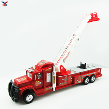 Children's simulation aerial ladder fire truck toy for kids fire truck