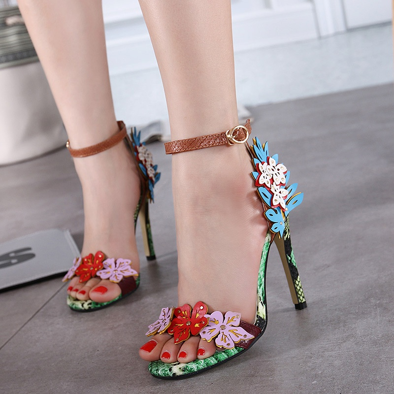 Ladies shoes women <strong>heels</strong> flower decor summer stiletto <strong>heels</strong>