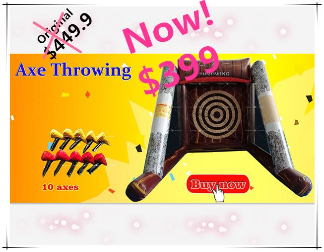 Hot Sale High Quality Small Axe Throwing Games <strong>Inflatable</strong> with Cheap Price For Kids Event