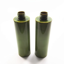 250ml army green moisturizing emulsion shampoo PET plastic bottle with screw cap or pump