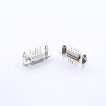 D-SUB connector Female 180 degrees Jack with screws white db connector