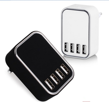 Universal Multi 4 Port Mobile Phone USB Adapter Charger, Fast Four Multi-Port Wall Charger for iPhone iPad Battery