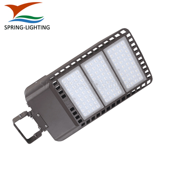 Yoke Mount outdoor tennis court LED shoebox light DLC listed 300W