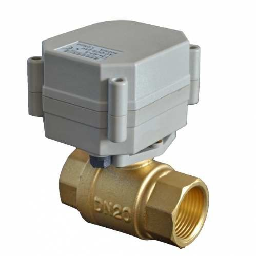 OEM 2 way 3/4'' inch DN20 Motorized ball valve Electric gas shut off brass valve