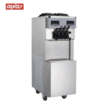Hot Sale Gongly 3 Flavor Ice Cream Machine Soft IceCream Making Machine