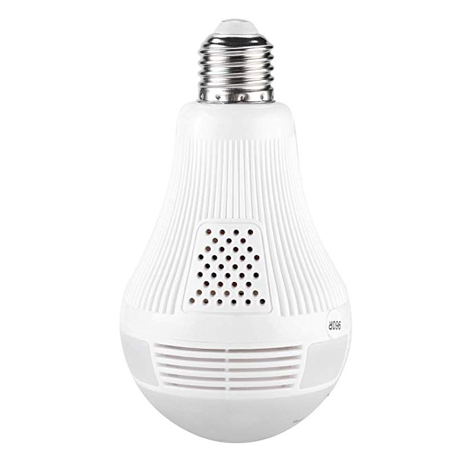 Popular Lowest Price 960P Panoramic IP CCTV HD Mini Wireless 1080P Light Bulb <strong>Camera</strong> WiFi