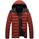 Winter Cotton Padded Puffer Down FeatherJacket Latest Design Outdoor Hooded Denim Jacket For Men
