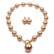 Simple Fashion Women Pearl Necklace Earrings Short Clavicle <strong>Chain</strong> yiwu Factory Direct