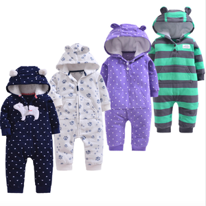 Baby boy Jumpsuit Outfit Hoody Coat Winter Infant Rompers Toddler Clothing Bodysuit