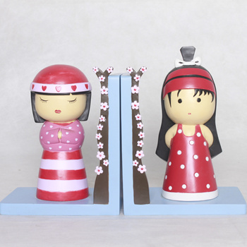 Wholesale Customized Japan Geisha Bookends Decorative