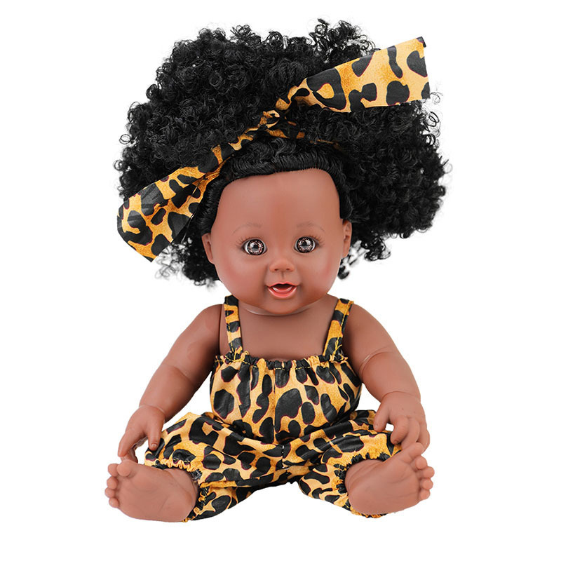 2019 New design wholesale vinyl plastic lifelike American african black baby <strong>doll</strong> for kids