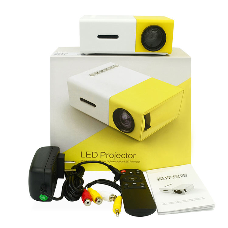 Factory Selling High Resolution Optional Built In Battery Portable Pocket Android Mini <strong>Projector</strong> YG300 With Cheap Price