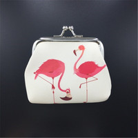 2019 Flamingo pattern Purse Womens PU Small Wallet Holder Coin Purse Clutch Handbag Bag Girls Card Holder