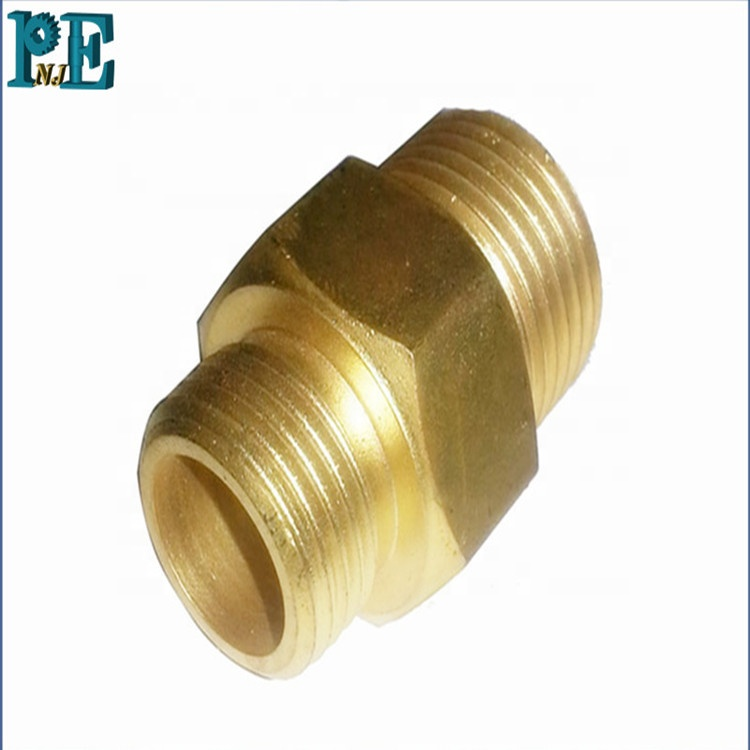 Factory supply high precision cnc machining brass hose <strong>fittings</strong>