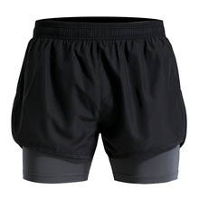 Men's Sports Running Shorts Mens Quick Drying Training Exercise Jogging <strong>Cycling</strong> Shorts with Longer Liner