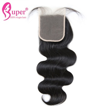 4x4 Transparent Lace Front Closure Manufacture Hair 100 Percent Malaysian Remy Human Cuticle Aligned Hair