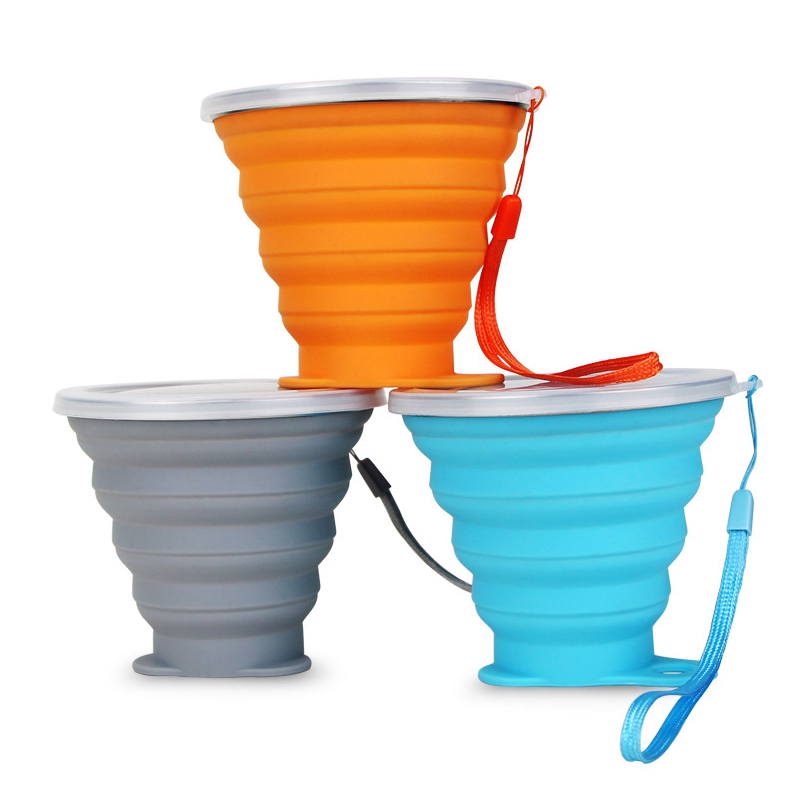 WeVi Silicone Collapsible Bottle Expandable Drinking Cup - BPA Free Portable Graduated