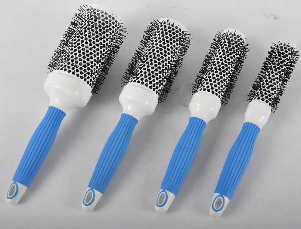 "Hair Tamer Turquoise ""Ergo"" Detangling Hair Brush"