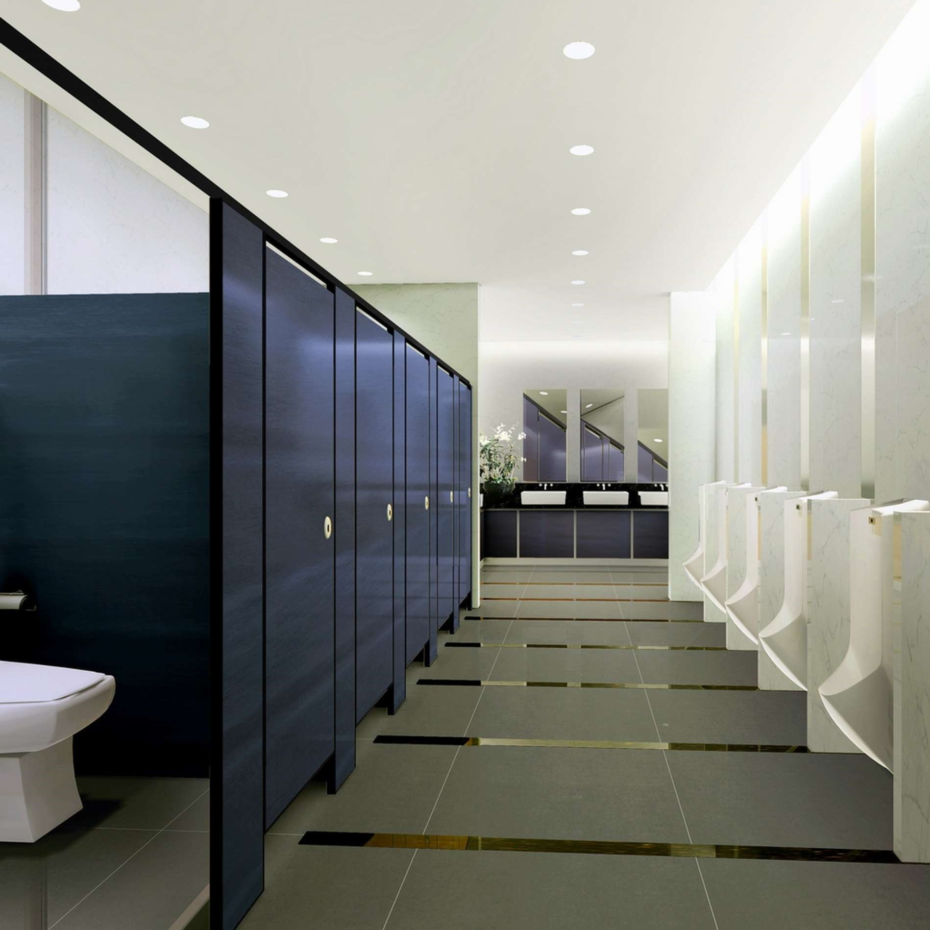HPL toilet partitions with Stainless Steel accessories made in China